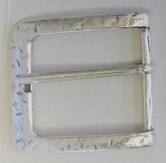 Gürtel-Schließe FERRO, 4cm, silberfarben
