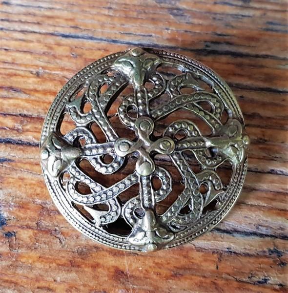 keltische Schlangen, Beschlag messingfarben