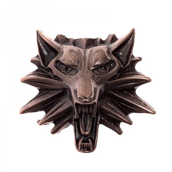 Wolfkopf Lupus, kupferfarbener Beschlag