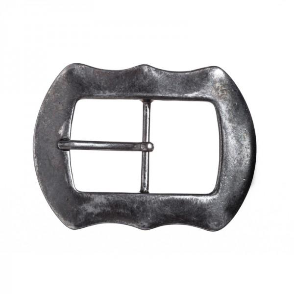 Flint, 4cm, schwarzsilberfarbene Gürtel-Schließe