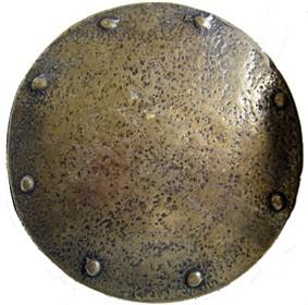 Ragnar, 4cm, messingfarbene Mittelalter-Schließe, Wikinger-Schild