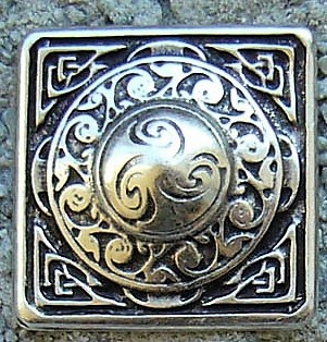 Celtic Square, silberfarbener Beschlag