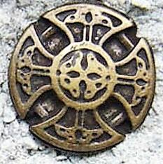 Kreuz der Kelten, klein, altmessingfarbener Beschlag