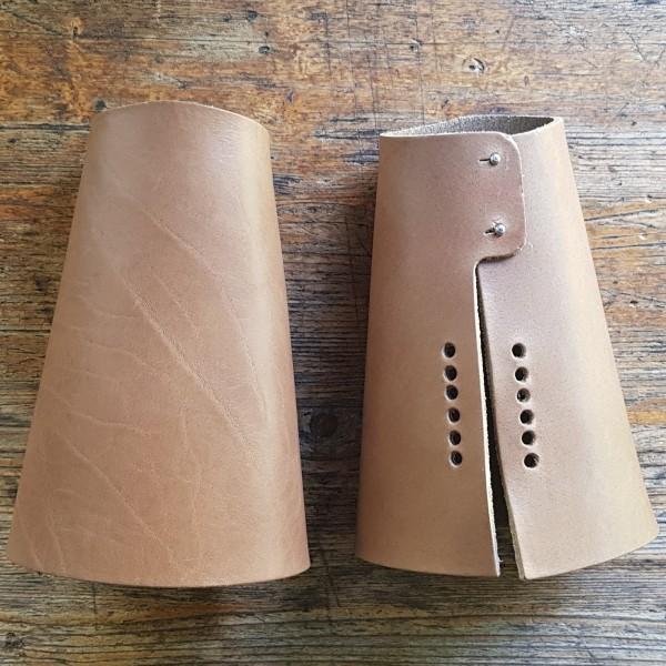 Armschoner, Cuffs - Rohlinge mit Pins