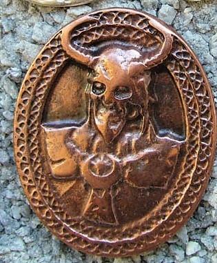 Viking God Loki, kupferfarbener Beschlag