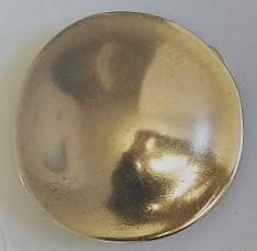 mittelalterliche RUNDSCHILD-Schließe, 4cm, messingfarben