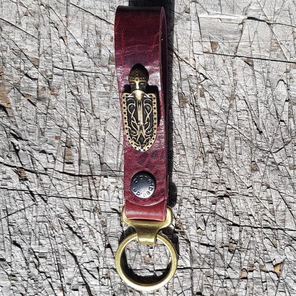 Schlüsselanhänger SLING, Ritter-Schild, messing