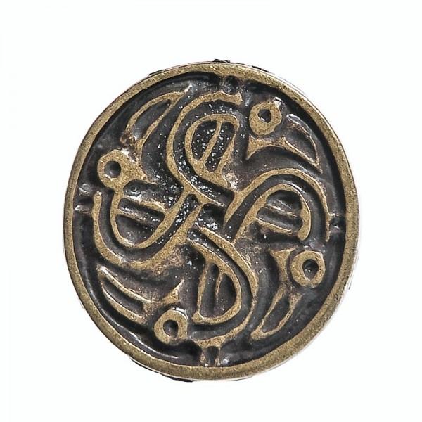 keltischer Rabenkreis, altmessingfarbener Beschlag