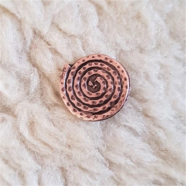 Spiralplatte, mittel, kupferfarbener Beschlag