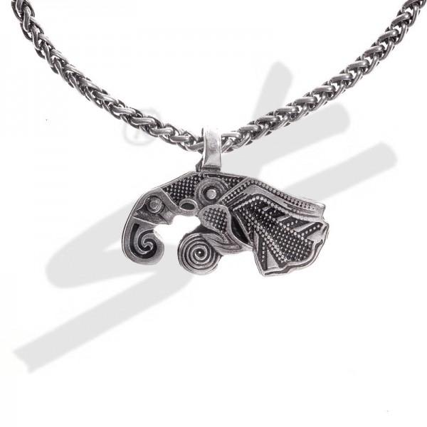 PK 5123-1 Halskette Rabe MUNIN , silberfarben