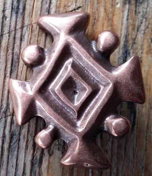 Isländisches Königssymbol, kupferfarbener Beschlag
