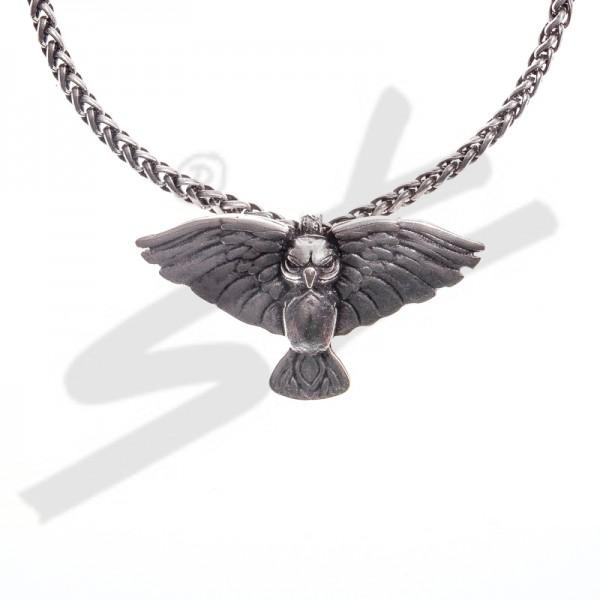 PK 5101-1 Halskette Eule Rosmerta, silberfarben