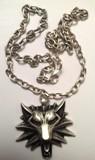 Halskette Wolfskopf, eisenfarben