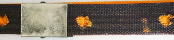 Stoffgürtel Koppel, gemustert, Vintage-Shotgun orange