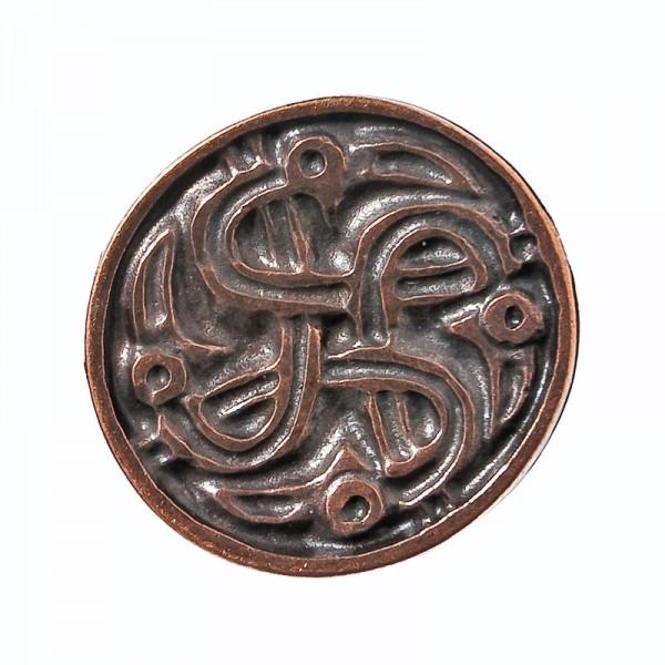 keltischer Rabenkreis, kupferfarbener Beschlag