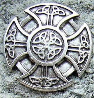Kreuz der Kelten, silberfarbener Beschlag