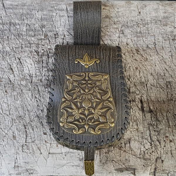 RIBE, Gürteltasche MAGYAR, Rinde Eiche (oliv)