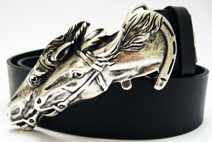 Horses, 4cm, silberne Pferde-Schließe