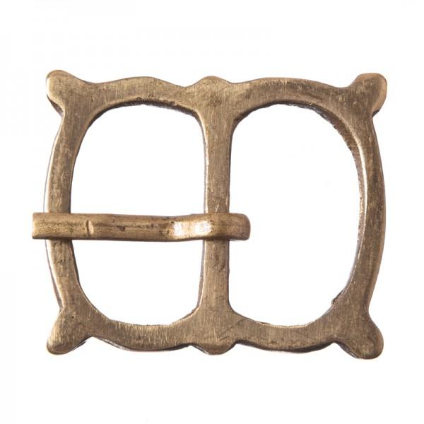Mittelalter-Doppelschließe, 2cm, Vollmessing