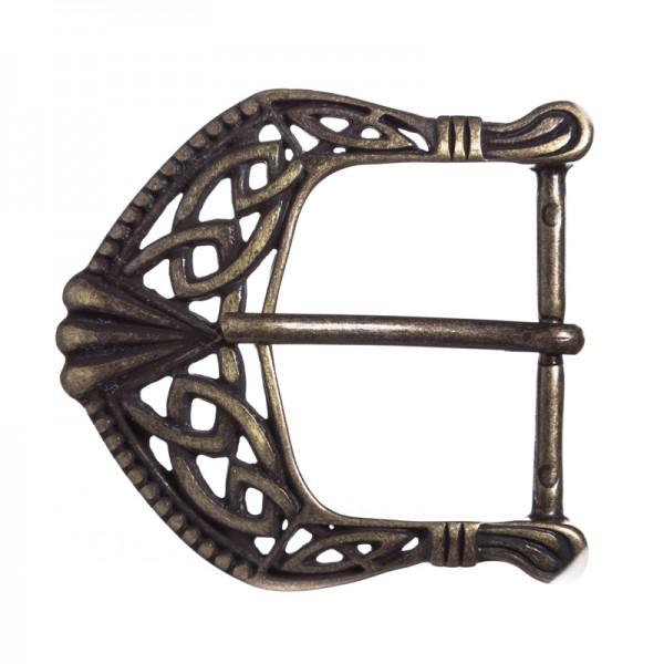 Celtic Buckle, 4cm, keltische Knoten-Schließe, altmessingfarben