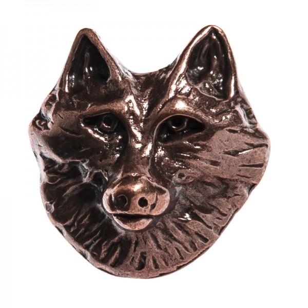 Wolfkopf-Niete, kupferfarbener Beschlag