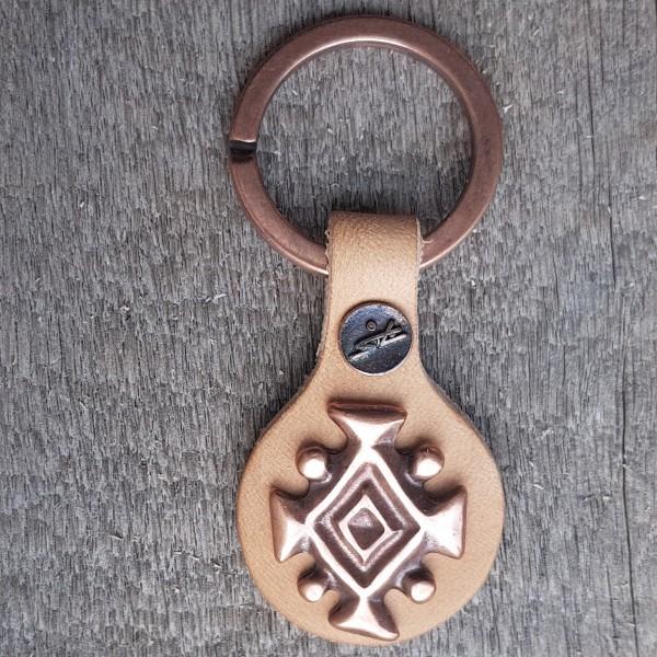 Schlüsselanhänger ISLÄNDISCHES KÖNIGSSYMBOL, kupferfarben