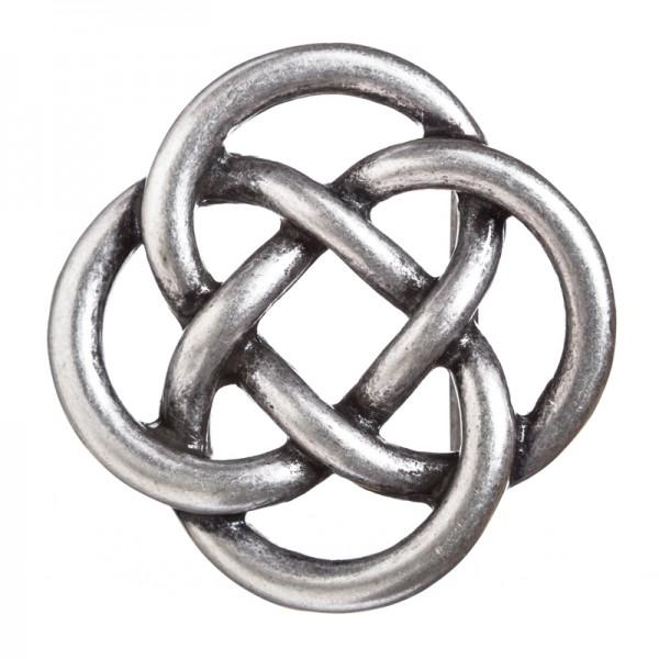 Glendale, keltische Knoten-Schließe, 4cm, silberfarben