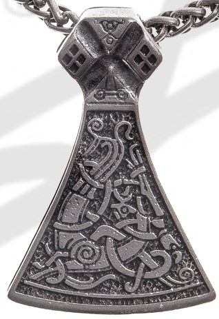 P 5113-1 Anhänger Mittelalter Mammen Axt , silberfarben
