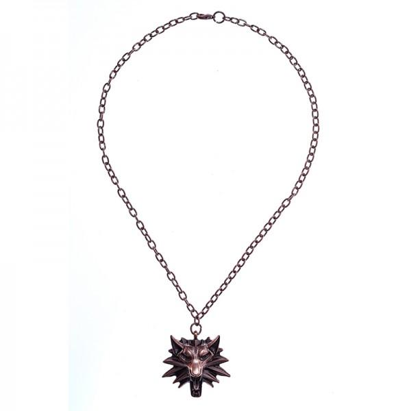 Halskette Wolfskopf, kupferfarben