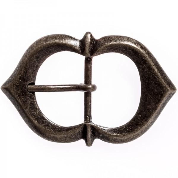 Spitzbogen-Schließe, 3cm, altmessingfarben