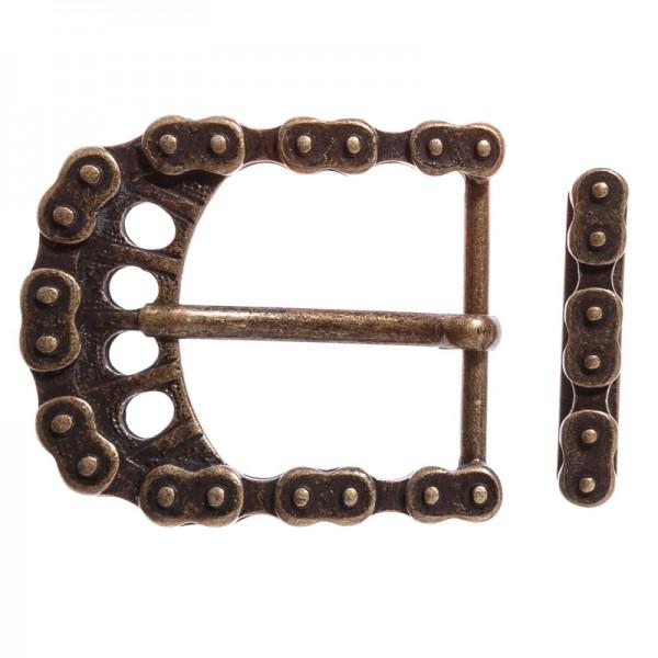 STP Bike Chain Set, altmessingfarbene Gürtelschließe, STEAMPUNK mit Schlaufe