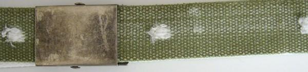 Stoffgürtel Koppel, gemustert, Vintage-Shotgun oliv