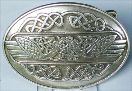 Celtic Swans, 4cm, keltische Gürtelschließe