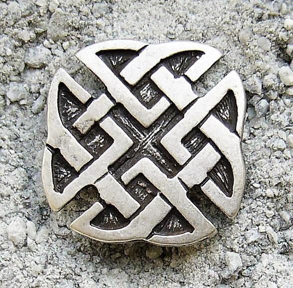 keltisches Kreuz, Beschlag silberfarben