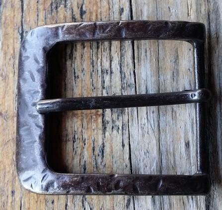 Gürtel-Schließe FERRO, 4cm, brandmessingfarben