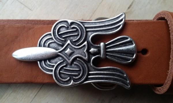 Keltischer Adler - Schließe, 4cm, silberfarben