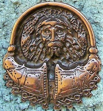 Odin, kupferfarbener Beschlag