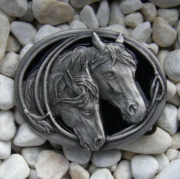 Ehwaz - Mare & Filly, 4cm, Pferde-Schließe