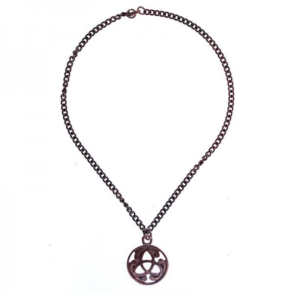 PK 5152-4 Halskette keltischer Anhänger, kupferfarben