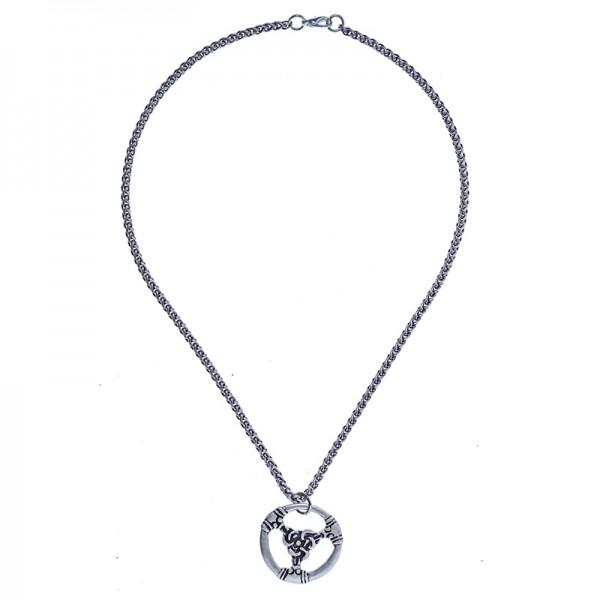 PK 5162-1 Halskette / Teiler TRIS, silberfarben