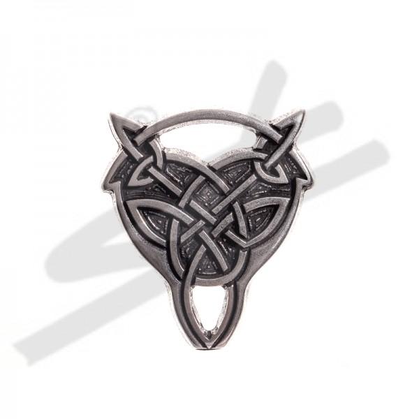 N-036-1 Beschlag keltischer Wolfskopf-Knoten, silberfarben