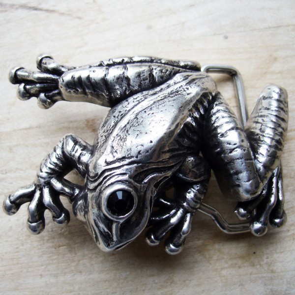 Frosch, 4cm,silberfarbene Gürtelschließe