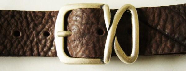 Cappio, 4cm, silberne Dorn-Vollschließe