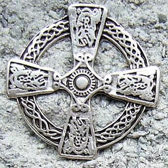 Celtic Cross, silberfarbener Beschlag