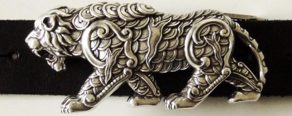 Tiger, 4cm, silberfarbene Schließe