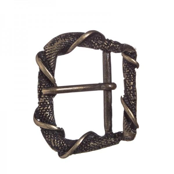 Dragonskin, 2,5cm, altmessingfarbene Mittelalter-Schließe