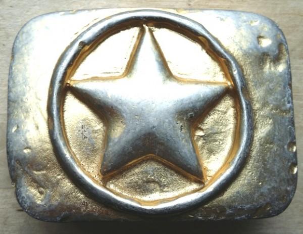 Stern-Schließe, goldbestaubt