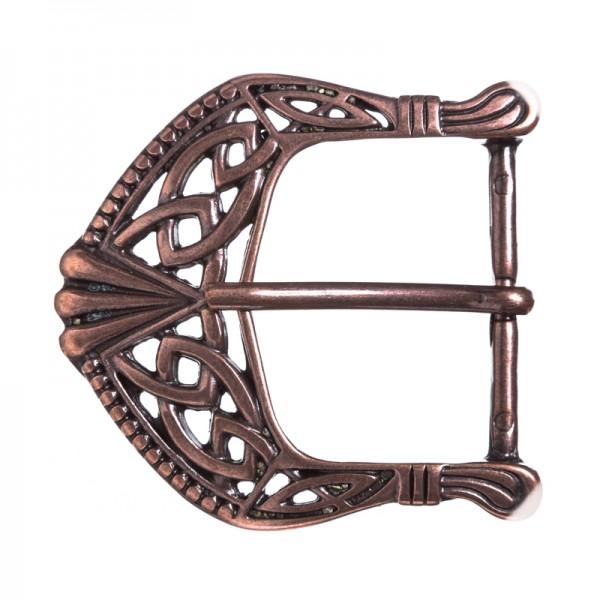 Celtic Buckle, 4cm, keltische Knoten-Schließe, kupferfarben