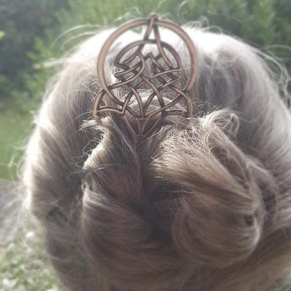 Haarnadel NIAMH, silberner keltischer Knoten