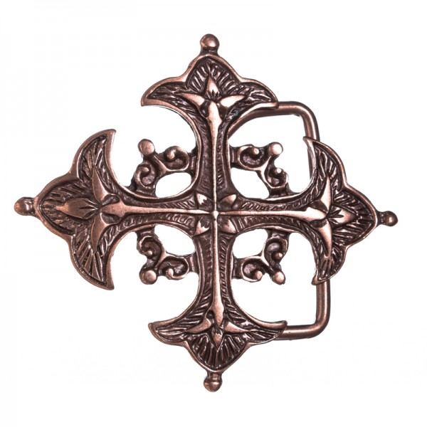 ARTUS, Lilienkreuz, 4cm, Musketier-Schließe, kupferfarben